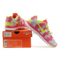 新着 Nike Free 5.0 Womens Light Pink Plum Fluorescent Green Shoes