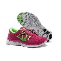 新着 Nike Free 5.0 Womens Red Fluorescence Green Shoes