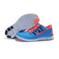 新着 Nike Free 5.0 Womens Sky Blue Rose Shoes