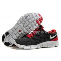 割引販売 Nike Free Run 2 Mens Black Dark Red Shoes