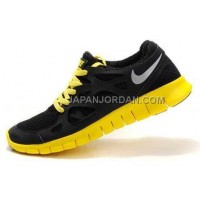 ホット販売 Nike Free Run 2 Mens Black Reflective Silver Shoes