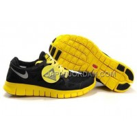 割引販売 Nike Free Run 2 Mens Black Yellow Shoes