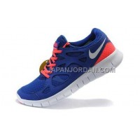 ホット販売 Nike Free Run 2 Mens Drenched Blue White Solar Red Shoes