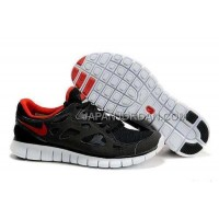 新着 Nike Free Run 2 Womens Black Red Shoes