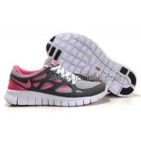 本物の Nike Free Run 2 Womens Gray Peachblow Shoes