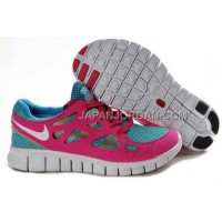 本物の Nike Free Run 2 Womens Pink Bright Turquoise Shoes