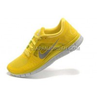 新着 Nike Free Run 3 Mens Chrome Yellow Reflective Silver Shoes