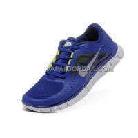 新着 Nike Free Run 3 Mens Deep Royal Blue Shoes
