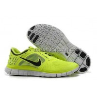 新着 Nike Free Run 3 Mens Fluorescence Yellow Black Shoes