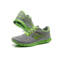 新着 Nike Free Run 3 Mens Gray Fluorescence Green Shoes