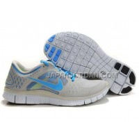 新着 Nike Free Run 3 Mens Light Gray Blue Shoes