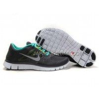 本物の Nike Free Run 3 Womens Black Green Shoes