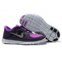 本物の Nike Free Run 3 Womens Black Purple Shoes