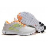 本物の Nike Free Run 3 Womens Gray Orange Shoes