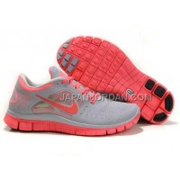 本物の Nike Free Run 3 Womens Gray Pink Shoes