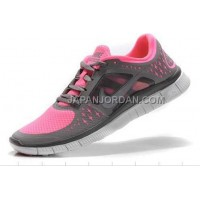 ホット販売 Nike Free Run 3 Womens Polarized Pink Reflective Silver Shoes