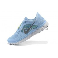 ホット販売 Nike Free Run 3 Womens Prism Blue Reflective Silver Shoes