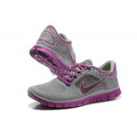 本物の Nike Free Run 3 Womens Purple Gray Shoes