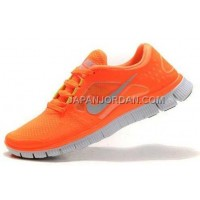 ホット販売 Nike Free Run 3 Womens Vivid Orange Reflective Silver Shoes