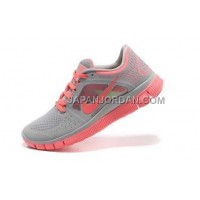 ホット販売 Nike Free Run 3 Womens Wolf Grey Bright Crimson Shoes
