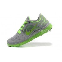 ホット販売 Nike Free Run 3 Womens Wolf Grey Electric Green Shoes
