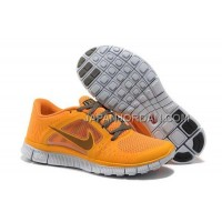 ホット販売 Nike Free Run 3 Womens Yellow Gray Shoes