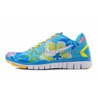 ホット販売 Nike Free TR Fit 2 Womens Blue White Lemon Yellow Shoes