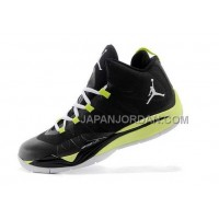 格安特別 Nike Jordan Super Fly 2 Mens Black Fluorescence Green