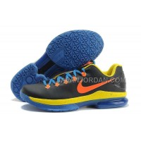 Nike KD V Elite Mens Black Yellow Orange Blue 本物の