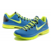 Nike KD V Elite Mens Blue Black Fluorescence Green 本物の