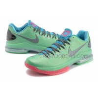 Nike KD V Elite Mens Light Green Peach Pink 本物の