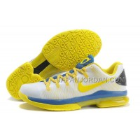 Nike KD V Elite Mens White Yellow Blue 本物の