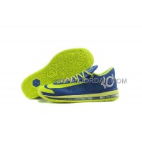 Nike KD Vi Elite Series Mens Blue Fluorescence Yellow 本物の