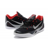 Nike Kobe 9 Low Mens Black Red 本物の