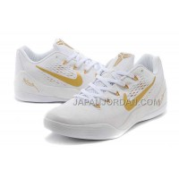 Nike Kobe 9 Low Mens White Gold 本物の