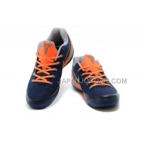 Nike Kobe Ix Em Low Mens Navy Blue Orange 本物の