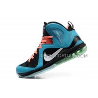 Nike Lebron 9 P.S. Elite Mens Black Blue Orange 送料無料