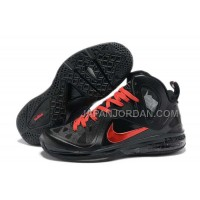 Nike Lebron 9 P.S. Elite Mens Black Red 送料無料