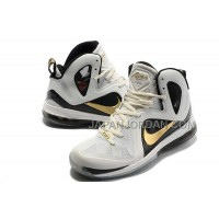 Nike Lebron 9 P.S. Elite Mens White Gold 送料無料