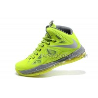 Nike Lebron X Mens Fluorescence Green Gray 送料無料