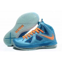 Nike Lebron X Mens Sky Blue Orange 送料無料
