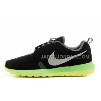 Nike Roshe Run Anti Fur Mens 3M Reflective Black Fluorescent Yellow Shoes オンライン