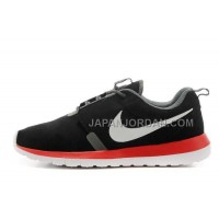 Nike Roshe Run Anti Fur Mens 3M Reflective Black Orange Shoes オンライン