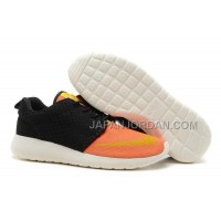 Nike Roshe Run FB Yeezy Mens Black Orange Shoes 格安特別