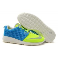 Nike Roshe Run FB Yeezy Womens Blue Yellow Shoes ホット販売