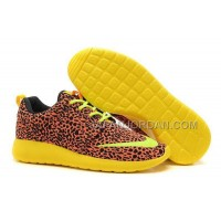 Nike Roshe Run FB Yeezy Womens Orange Leopard Shoes ホット販売