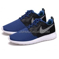 ホット販売 Nike Roshe Run Hyperfuse QS Mens Blue Black Shoes