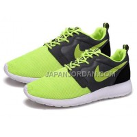 Nike Roshe Run Hyperfuse QS Womens Fluorescent Green Black Shoes 格安特別