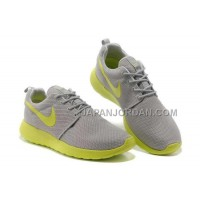 Nike Roshe Run Junior Mens Gray Apple Green Shoes オンライン