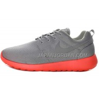 Nike Roshe Run Junior Mens Gray Red Shoes 格安特別